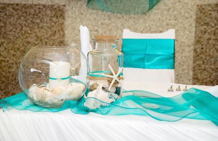 Wedding decorations tropical style