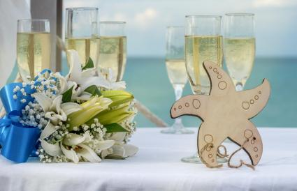 Wedding celebration in the Caribbean