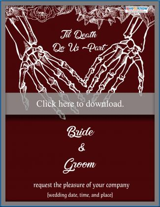 goth wedding invitation