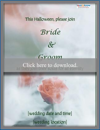 spooky romance wedding invitation