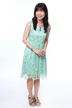 Candy Colored Knee-Length Lace Dress