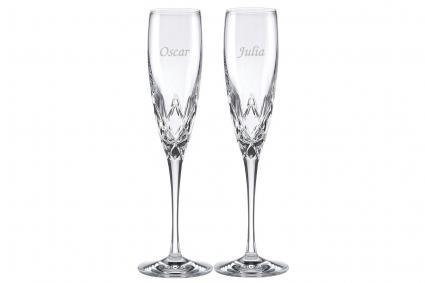 Custom Lenox Venetian Lace Signature Champagne Flute