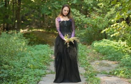 Black and Purple Goth Dress