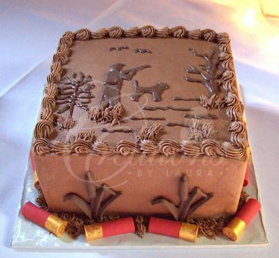 hunting groom's cake with shotgun shells