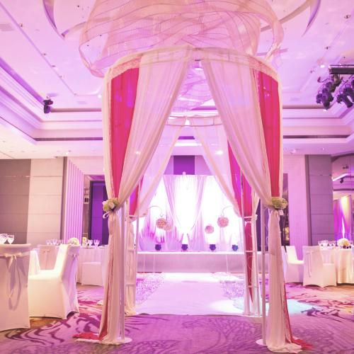 Interior of a indoor wedding reception hall