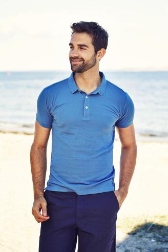 Guy in blue at the beach