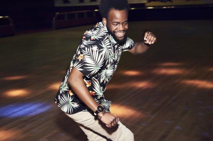 Man having fun at disco