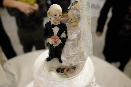 elderly cake topper