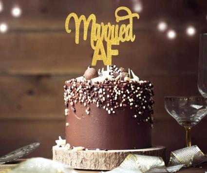 Married AF Cake Topper