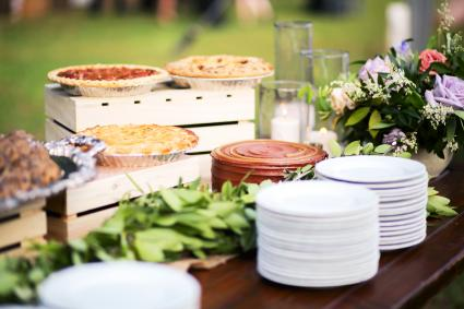 Wedding Dessert Bar with Cookies, Cakes, and Pies