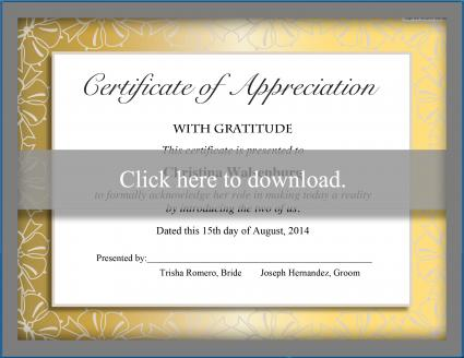 Click to print the certificate of gratitude.