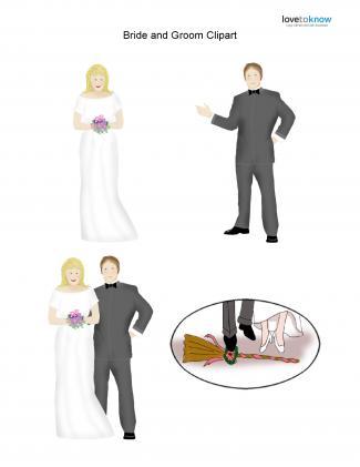 Caucasian Wedding clipart