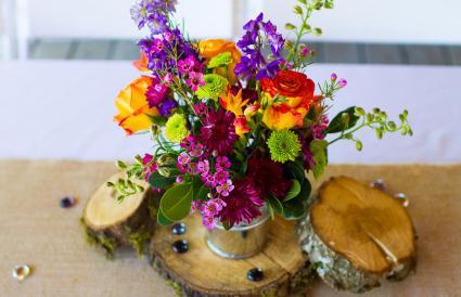 Floral Wedding Reception Centerpieces