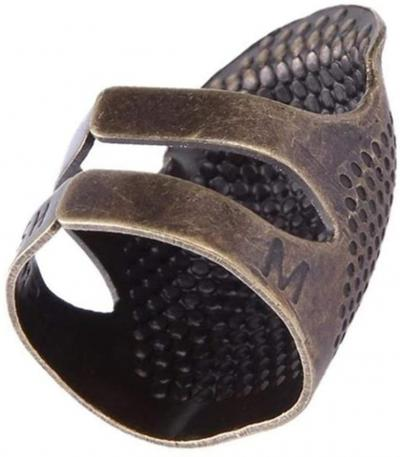 Bronze Adjustable Thimble Ring