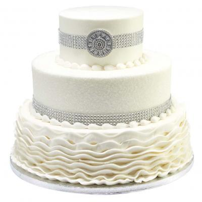 Magnificent Wedding Cakes From Walmart Lovetoknow Funny Birthday Cards Online Overcheapnameinfo