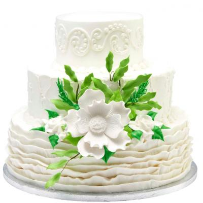 Swell Wedding Cakes From Walmart Lovetoknow Funny Birthday Cards Online Overcheapnameinfo