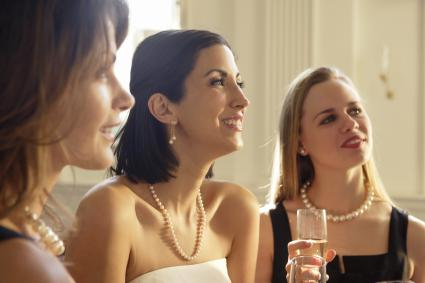 Bride listening to her maid of honour toast