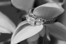 Photo of an art deco wedding ring