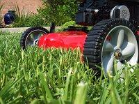 Mowing the lawn as a cheap groomsmen's gift