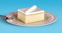 A slice of wedding sheet cake