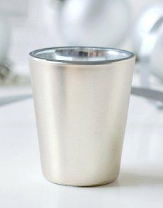 Image of a silver shot glass wedding favor