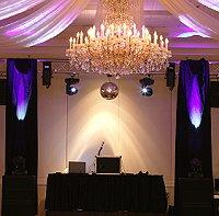 The DJ setup at a wedding reception