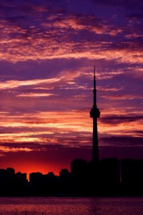 Photo of a romantic skyline in Toronto, Canada