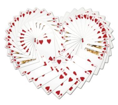 cards in heart shape