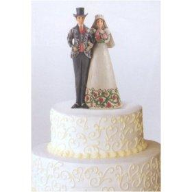 Bride and Groom Topper in Christmas Theme