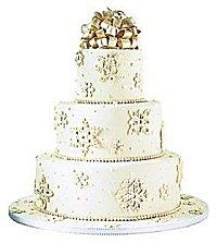 Designs For Snowflake Wedding Cakes