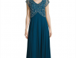 J Kara V-Neck Embellished Gown