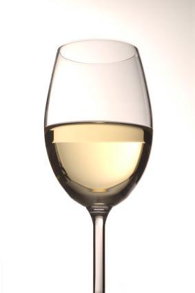 white wine in a white wine glass