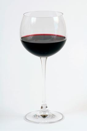 red wine in a red wine glass