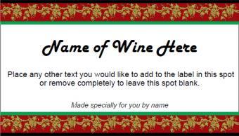 Festive Wine Label