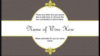 Neutral Wine Label