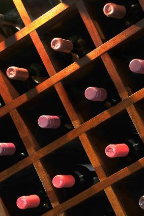 wine rack with individual storage spaces