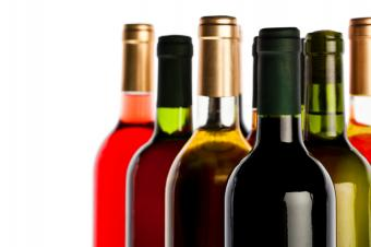 Assortment of wine bottles
