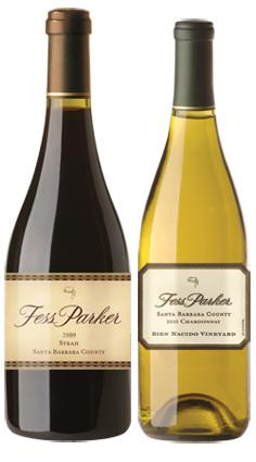 Bottles of Fess Parker red and white wines