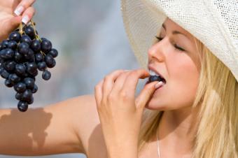 eating grapes