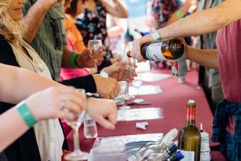 Montpelier Wine Festival wine tasting