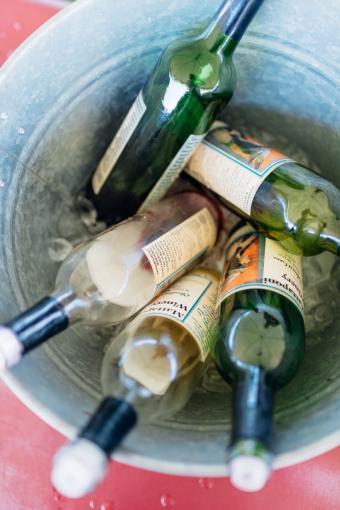 Bucket of Montpelier Wine Festival wines