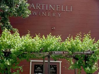 Martinelli winery red barn