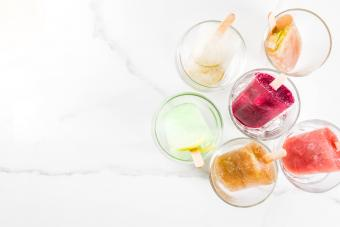 wine and fruit pops