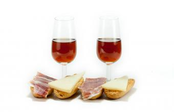 wine and snack