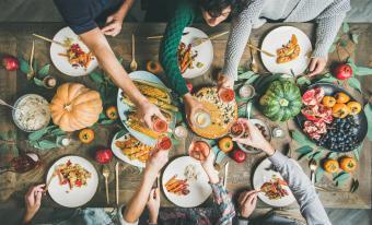 vegetarian thanksgiving with rose wine