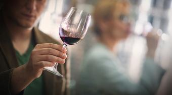 Examining a wine's color
