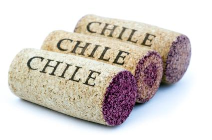 Corks from Chilean wine