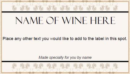 decorative wine label
