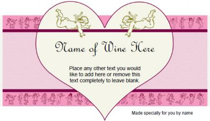 Cupids And Hearts Wine Label  Free Wine Label Template