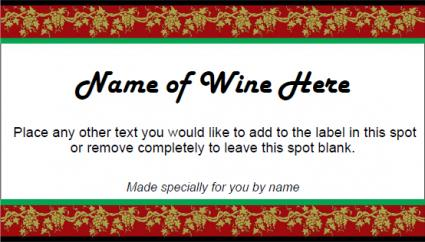 Festive Wine Label  Free Wine Label Template